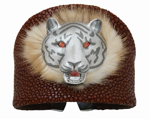 TIGER BANGLE WITH FURS.